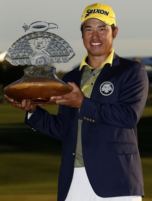 Hideki Matsuyama came up with a clutch put in a playoff to beat Rickie Fowler and claim his second PGA Tour win.